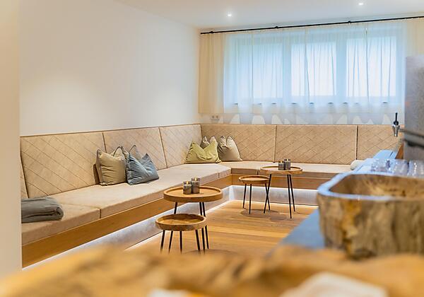 Sauna 22m2 mit Panoramablick und Blick zum Rotwild