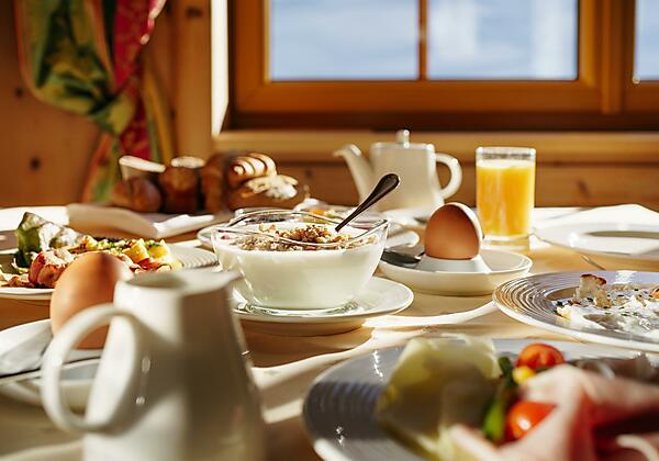 Frühstück im Venter Bergwelt