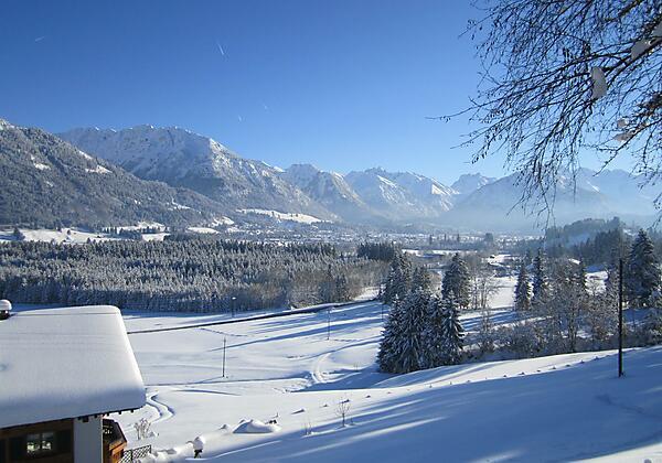 Winterliche Aussicht vom Landhaus