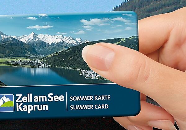 Sommerkarte Zell am See-Kaprun hand Landhaus Gitti