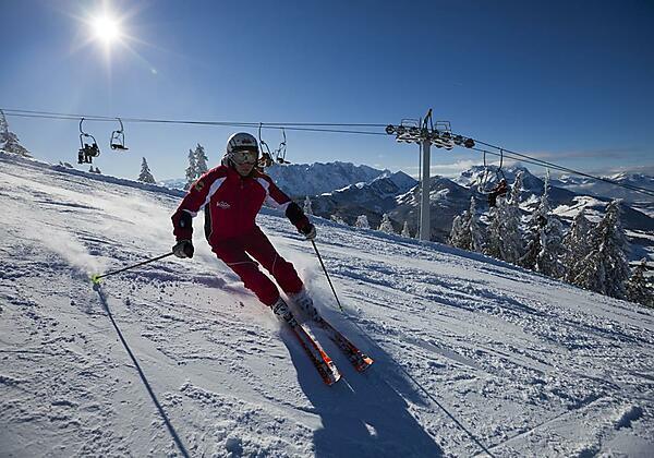 Skifahren auf Hochkössen