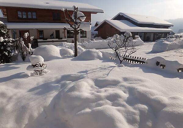 Schnee im Allgäu Bolsterlang