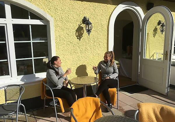Hotel Lindenhof Bad Gastein Terrasse