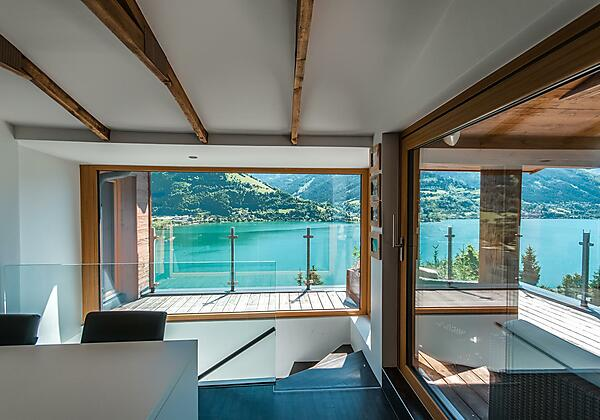 dining area with stunning view