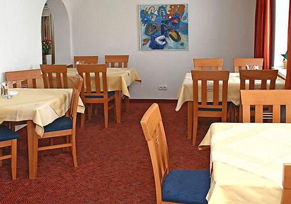 Das Restaurant in der Pension Schlossberg