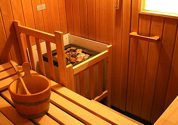 Die Sauna in der Pension Schlossberg