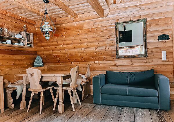Romantikhütte alter Herd