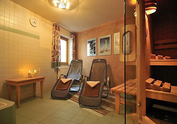 Siplinger Suites - Sauna und Dampfbad im Haus