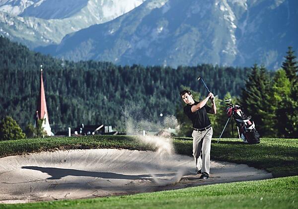 Golf Abschlag - Anlage Seefeld-Reith klein