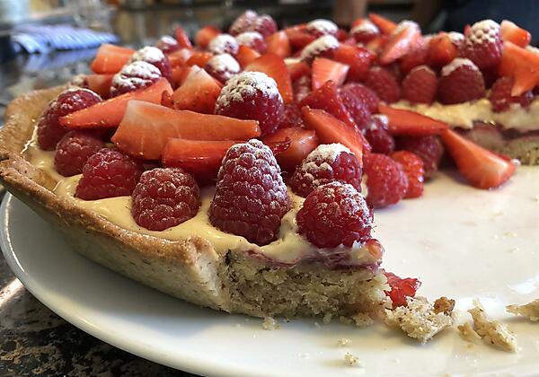 Himbeere-Erdbeer-Tarte