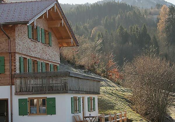 Ansicht Ferienwohnung + Terrasse Ferienwohnung